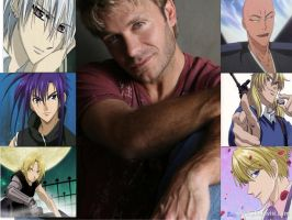 Vic Mignogna collage by Ce-CeRiddle
