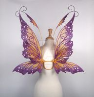 Hannah Titania Fairy Wings in Purple and Gold by glittrrgrrl
