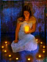 The mystic candle girl by fotojenny