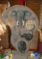 Africa's Big Five Painting by MorRokko