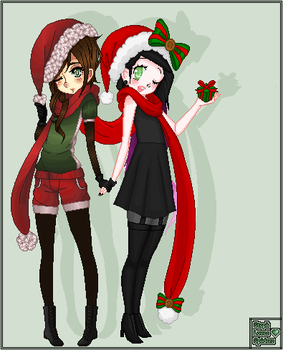 [Collab] Christmas by 1LittlePenguin