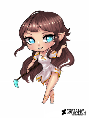 Commission:  Chibi Elf by Contanew