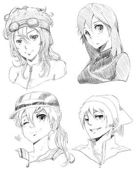 Bust Headshot Examples. by MzzAzn