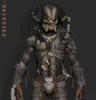 Predator - Zbrush WIP 24 Rough Color Test by FoxHound1984
