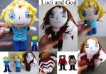 Luci and God - OC Characters Plushie by plooshieS2