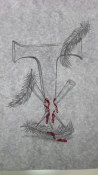 Drawing of the Undertaker Symbol ink by Wolf-Lucy