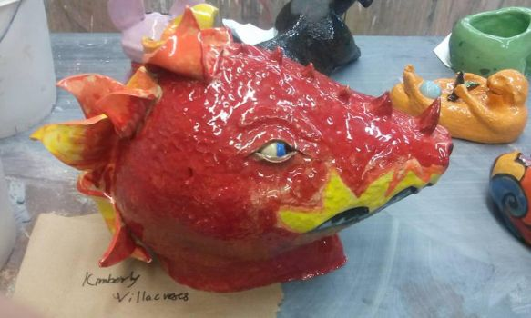 Glazed dragon head-complete by VKIMBO