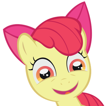 Overatached Applebloom vector by Tollaner