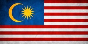 Malaysia Grunge Flag by think0