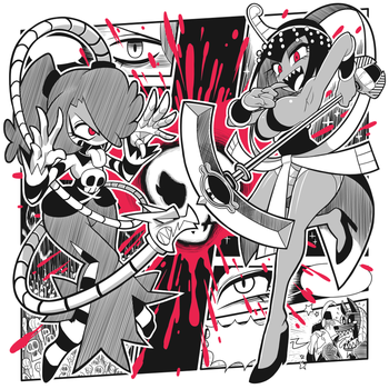 Skull Girls T-shirt design again by Gashi-gashi