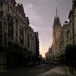Sunset on Gran Via by IMAGENES-IMPERFECTAS