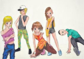 [Manga school project] Street Dance by pinkshoo