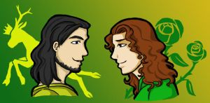 Renly and Loras by HKSherra