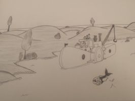 Monochrome - Vintage River concept sketch by EB-the-GAMER