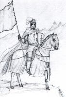 Mounted Knight by dashinvaine