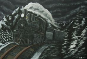 Long Black Train by Experiment-713