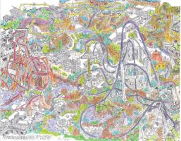 Detailed Theme Park in color by dvn225