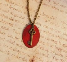 Key to the Soul Enameled Necklace by FusedElegance