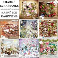 [Happy 20K+ Pageviews] Share 8 Scrapbooks by HanaBell1