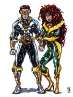 Cyclops and Phoenix 2010 by KwongBee-Arts
