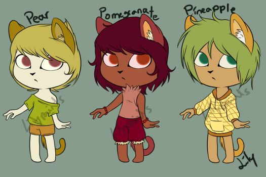 Fruity Cat Adopts: Round 1 (ON SALE) by LilyPaints