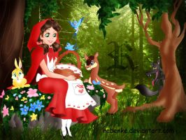 Little Red Riding Hood disney by rebenke