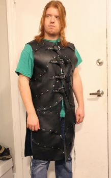 Soft Black Leather Armour by SerenFey