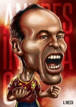 Andres Iniesta Caricature by NazariaNz
