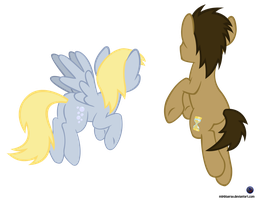 MLP Vector - Derpy n Dr. hooves by MLPBlueRay