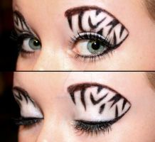 Zebra eyeshadow by Creativemakeup