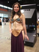 Slave Leia Cosplayer by sagat13