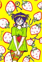 Strawberry T-shirt - Rukia by hana-sun
