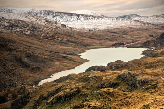 Llyn Ogwen from above by CharmingPhotography