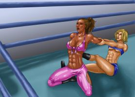 Kayla Wrestles by gwproject
