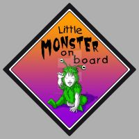 Little monster on board by CaroRichard