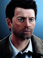 Castiel portrait - SPN by Sukautto