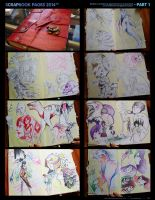 Scrapbook Sketch Pages - PART 1 by SilentReaper
