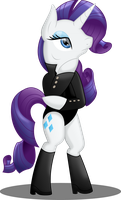 Rarity the Gemtlemare by TheShadowStone