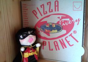 Batman Pizza by Misandrie