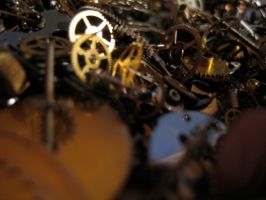 Gears cogs clockwork No.3 by redrockstock