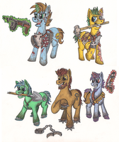 MLP fallout - Raiders and slavers by devilsreject493