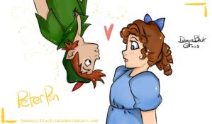 Peter and wendy by demonic-black-cat