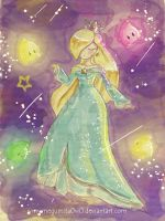:Watercolor Rosalina: by MeguBunnii