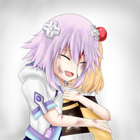 Neptunia - Nep and P-ko by Babero