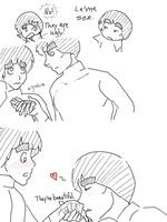 Gai likes Lee's hands. by Techno-Lee-San