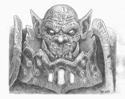 Orc Warchief Blackhand - Warcraft - Sketch by JoeDomani