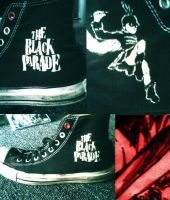 Black Parade Converse by KIRA009