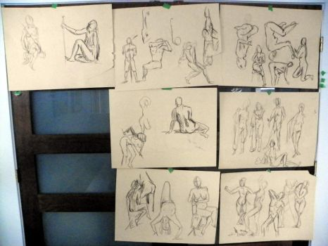 Practice mostly from Croquis Cafe by DAGuertin
