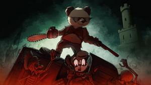 Funky Panda youtube art - October 2015 by petirep