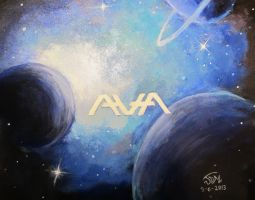 Angels and Airwaves Acrylic Space Painting by RushLightInvader